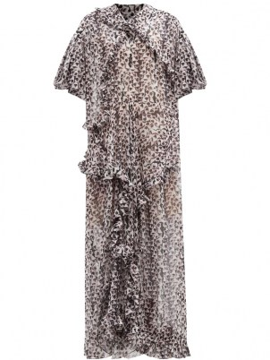 PREEN BY THORNTON BREGAZZI Botan floral-print recycled-fibre georgette gown – ruffled gowns - flipped