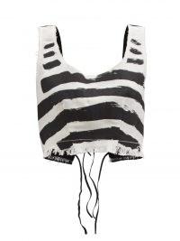 MARNI Brushstroke-print gauze cropped tank top | sleeveless crop hem tops
