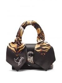 CHRISTIAN LOUBOUTIN Elisa nano leather cross-body bag / tiny black handbag / designer crossbody bags