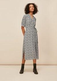 Whistles OLIVIA MIXED ANIMAL DRESS – blouson sleeve dresses
