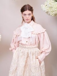 sister jane DREAM Sweet Impressions Bow Blouse ~ pink victorian style blouses