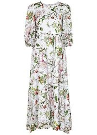 BORGO DE NOR Constance floral-print broderie anglaise maxi dress