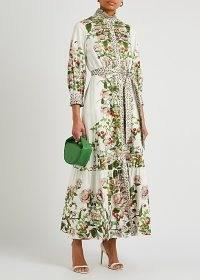 BORGO DE NOR Demi floral-print cotton maxi dress ~ feminine spring dresses ~ romantic style occasion fashion