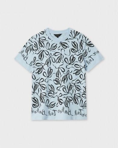 TED BAKER MODANA Bow printed tee / women's branded T-shirt - flipped