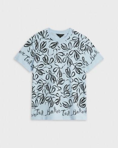 TED BAKER MODANA Bow printed tee / women's branded T-shirt