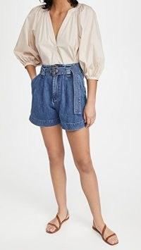 Boyish Leon Pleated Shorts   casual denim