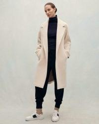 JIGSAW BRUSHED WOOL COAT in Cream ~ neutral luxe coats