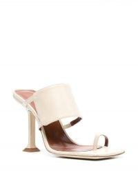 BY FAR Gigi high-heel sandals / square toe wide strap sandal