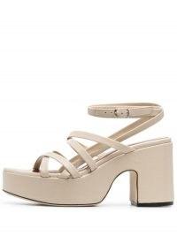 BY FAR Pamela leather sandals / strappy summer platforms