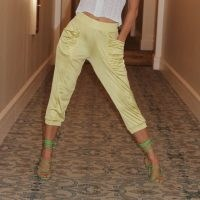 LAHIVE Capri Limoncello Leisure Pant / cropped lounge pants / luxe style loungewear