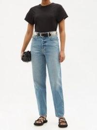 B SIDES Claude tapered-leg jeans ~ blue denim ~ high waist