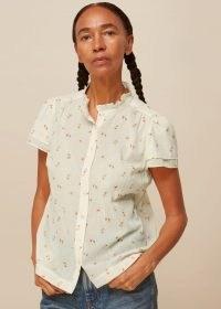 WHISTLES FORGET ME NOT VOILE BLOUSE – feminine summer blouses