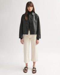 JIGSAW CROPPED LEATHER JACKET ~ casual luxe jackets