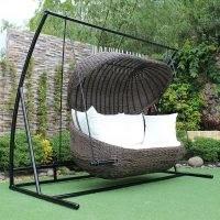 Wayfair Kevser Swing Seat with Stand by Dakota Fields   Garden Furniture   Relax Outdoors