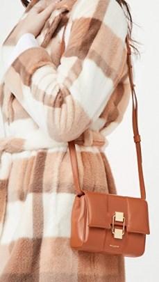 DeMellier Mini Alexandria Bag Deep Tan – small brown shoulder bags – crossbody - flipped