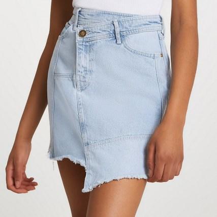 River Island Denim raw hem mini skirt | casual asymmetric skirts