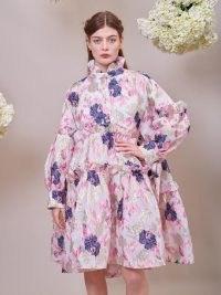 sister jane DREAM Camellia Jacquard Midi Dress ~ romantic voluminous dresses ~ ruffled fashion with volume