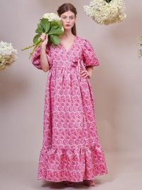 sister jane DREAM Bud Burst Jacquard Wrap Dress ~ romantic vintage style maxi dresses