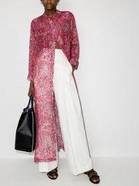 Etro Gianturi paisley-print shirtdress / pink longline shirt dresses