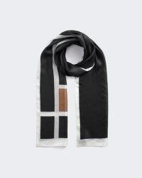 JIGSAW EZE GEO SILK SCARF ~ chic contemporary scarves