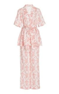 Emilia Wickstead Fifi Printed Cotton Pajama Set / floral tie waist pyjama sets / nightwear / pyjamas