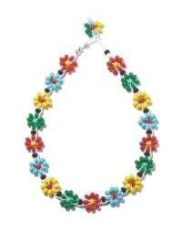 BOTTEGA VENETA Floral beaded choker ~ multicoloured chokers