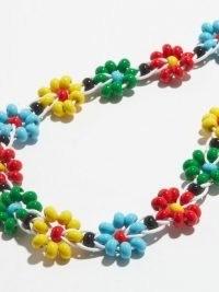 BOTTEGA VENETA Floral beaded necklace ~ resin bead necklaces