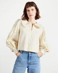 TED BAKER COPOLA Frill blouse ~ ruffle trim blouses