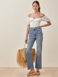 Reformation Georgia Retro High Rise Flare Jeans | vintage look denim flares