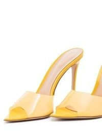 Gianvito Rossi Elle 105mm pointed-toe mules / yellow stiletto heel mule