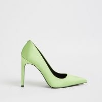 RIVER ISLAND Green high heeled court shoes / pointed stiletto couurts
