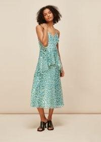 WHISTLES STRAPPY ANIMAL METALLIC DRESS ~ spaghetti strap dresses