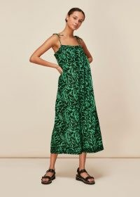 WHISTLES TIGER ANIMAL BEACH JUMPSUIT / wide crop leg jumpsuits for summer / effortless style fashion for the beach and pool