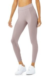 ALO YOGA HIGH-WAIST 7/8 NO LIMIT LEGGING ~ ribbed sports leggings