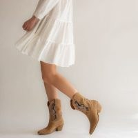 THE BOOT INSTITUTE Ibiza Camel Suede Handmade Boots