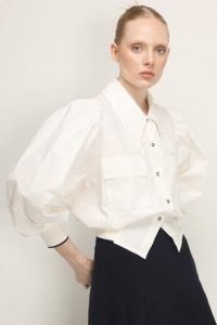 storets Madilyn Collar Accent Shirt   shirts with oversized collars and long balloon sleeves