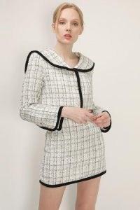 storets Brittany Tweed Trim Jacket ~ textured sailor collar jackets