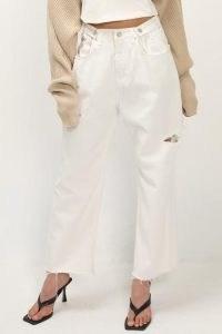 storets Makenna Slash Side Jeans   white ripped and frayed denim