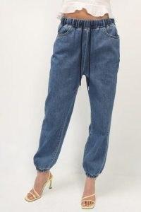 storets Celeste Denim Joggers Medium Wash   blue cuffed jogging bottoms