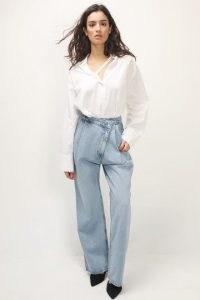 storets Jacqueline Wrapped Jeans Light Wash   contemporary denim