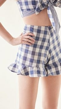 Just BEE Queen Riley Shorts / blue gingham