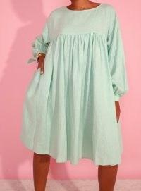 LF Markey KEL DRESS JADE ~ green voluminous gathered bust dresses