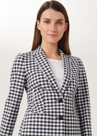 HOBBS KELSIE CHECK BLAZER WITH COTTON / fresh checks for spring and summer / women's checked blazers