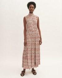 JIGSAW LEOPARD MEADOW SLEEVELESS MAXI / elegant high neck dresses