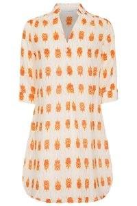 Pink House Mustique Linen Decima Dress Beetle Orange / meachwear cover up / poolside dresses