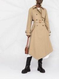LOEWE handkerchief hem trench coat | modern classic coats