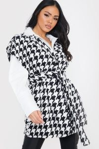 Celebrity inspired jackets ~ LORNA LUXE 'L'AVENUE' HOUNDSTOOTH SLEEVELESS JACKET