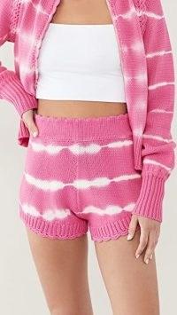 LoveShackFancy Karrisa Shorts / knitted loungewear