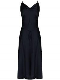 Low Classic cowl-neck midi dress | black cami strap dresses