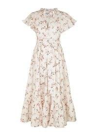 LUG VON SIGA Sofia floral-print cotton midi dress ~ vintage style spring dresses ~ romantic fashion